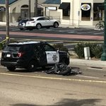 Image for the Tweet beginning: Motorcyclist killed after crashing into