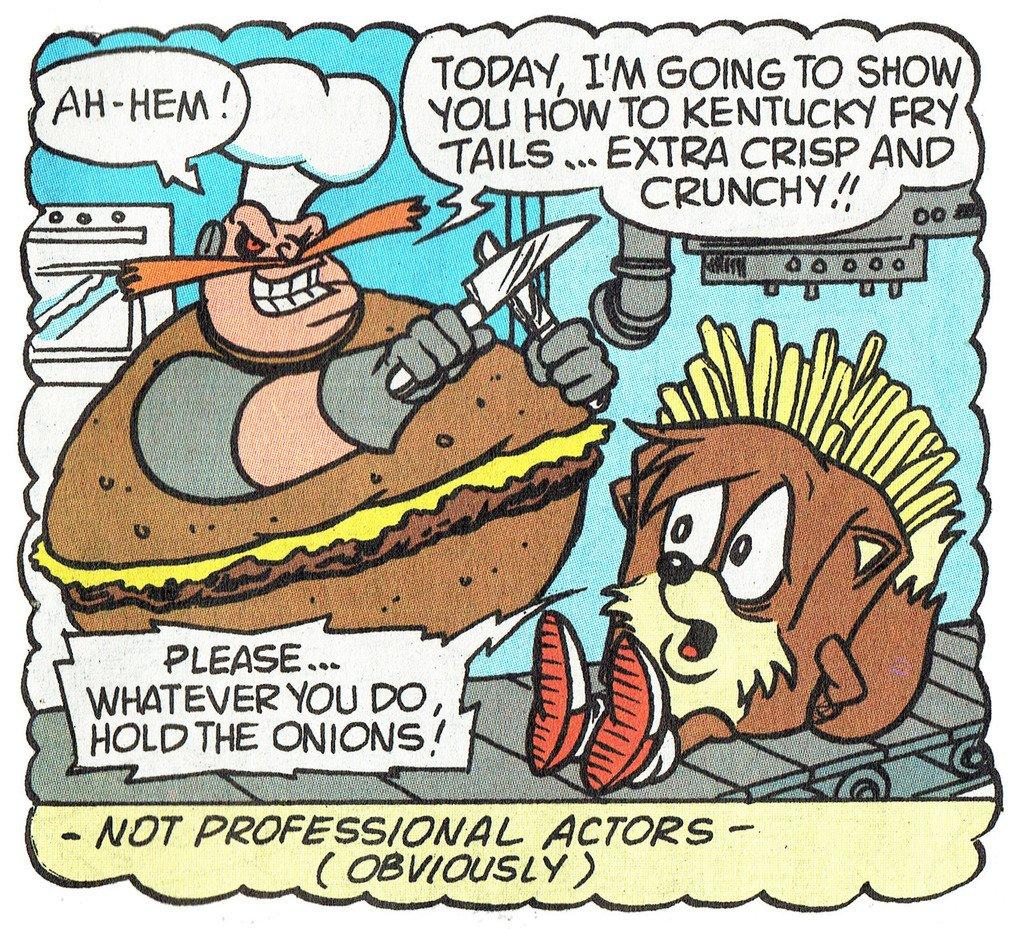 Sonic's fast-food dream gets pretty bizarre, from Archie Comics' 'Sonic The Hedgehog #11.  https:// ift.tt/2KgLqAc  &nbsp;  <br>http://pic.twitter.com/UVz22apg7n