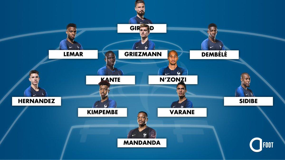 Le XI probable des Bleus pour Danemark - France, demain.