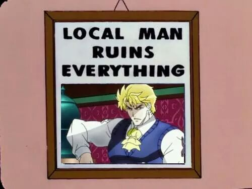 Jojo&#39;s bizarre adventures in a nutshell <br>http://pic.twitter.com/1LyCNyh9Aw