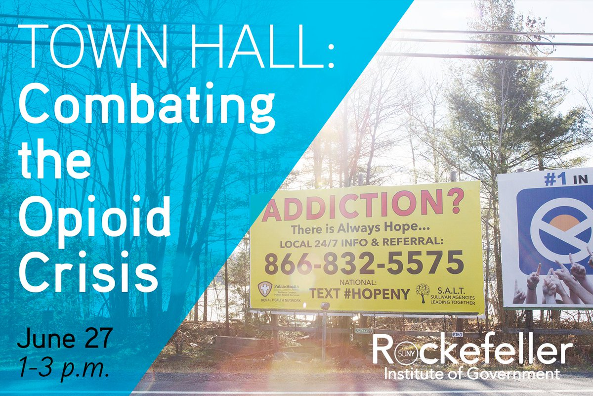 We still have seats open for a forum addressing how communities can combat the #opioidcrisis next Wednesday. Details: https://t.co/JcOILVZYrM  And catch up on our ongoing study in the rural communities of Sullivan County, NY, with #StoriesfromSullivan: https://t.co/xOztUR4jh5