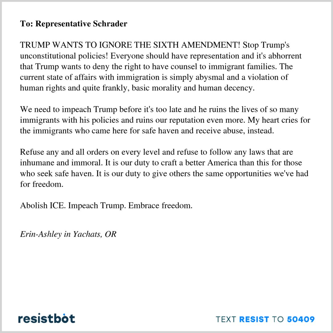 Resistbot Open Letters On Twitter Heres An Open Letter From Erin