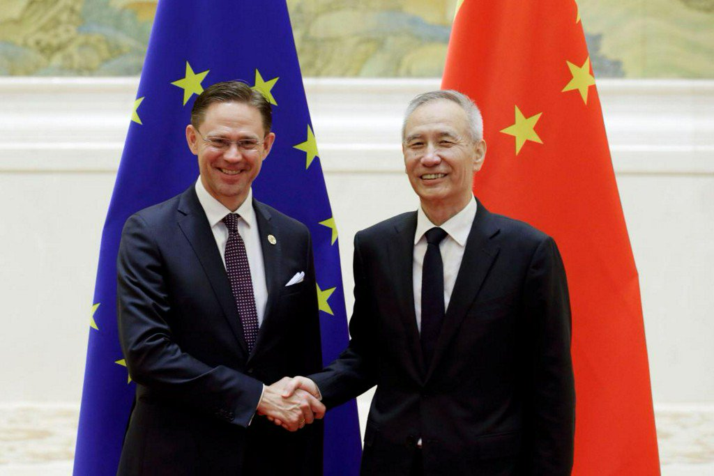 China Vice Premier Liu says China, E.U. aim to conclude talks on bilateral investment deal https://t.co/0XPLe7KHeW https://t.co/smFcLUit3X