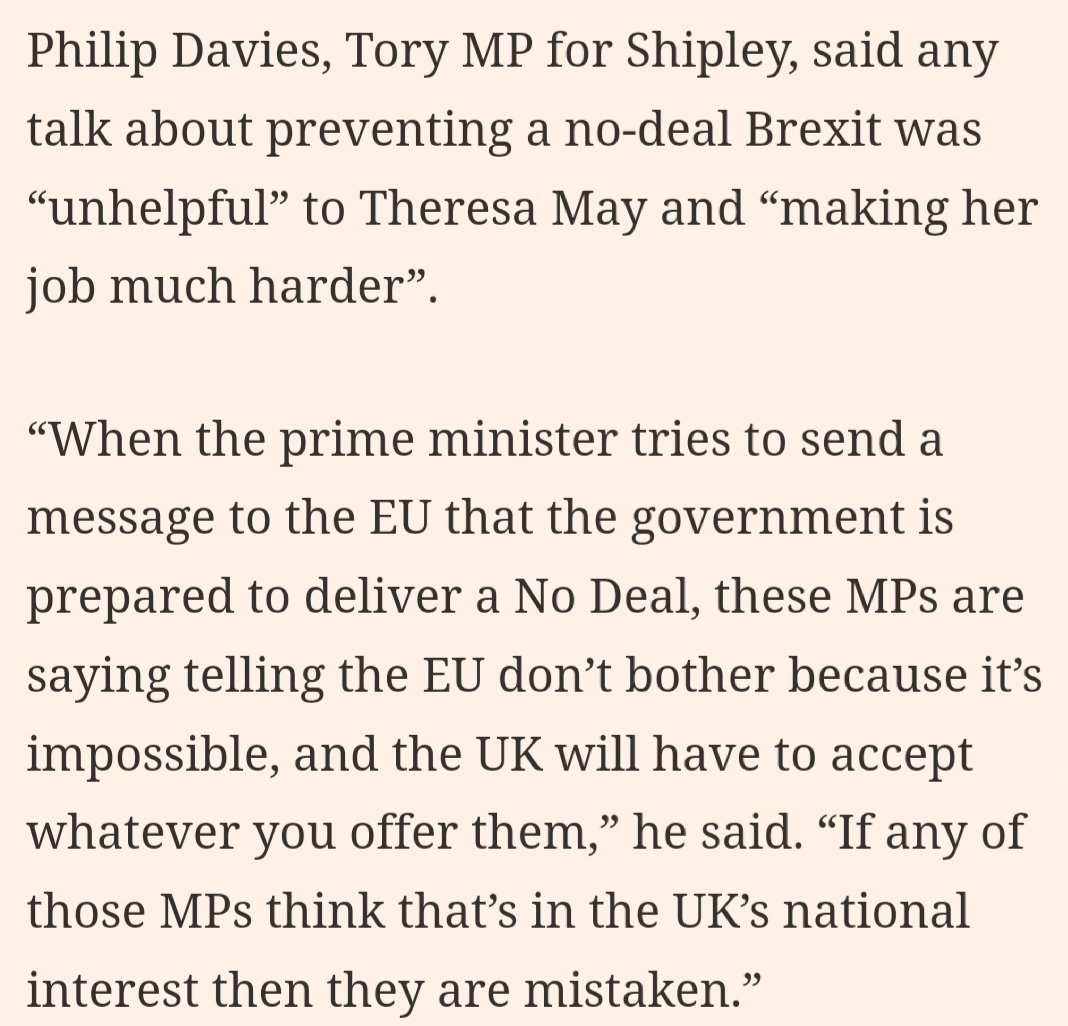 &quot;I&#39;ll cut off my nose. I will, you know. Don&#39;t think I won&#39;t. And don&#39;t blame me for the blood on your shoes.&quot;   Amazing that this is official Government policy on Brexit ( https://www. ft.com/content/1c1e8f e6-7626-11e8-b326-75a27d27ea5f &nbsp; … ).<br>http://pic.twitter.com/ziTCLniZ67
