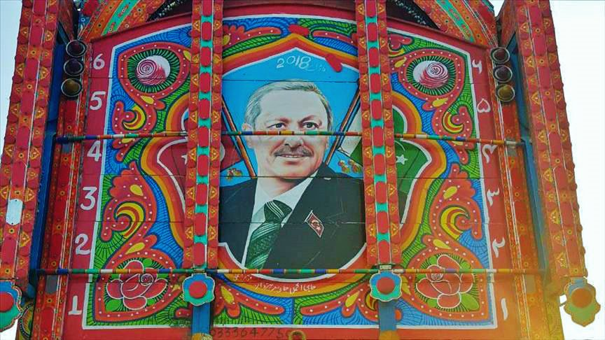 Pakistani Truck Art with the picture of Turkey President Tayyip Erdogan Leaders of Turkey are highly regarded and respected in Pakistan   #Pakistan #Turkey #TurkeyElections #TurkeyElection2018 <br>http://pic.twitter.com/JifaJ3mqhQ