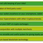 Image for the Tweet beginning: Some advantages of EsperanToken:  #cryptocurrencies #loyaltypoints