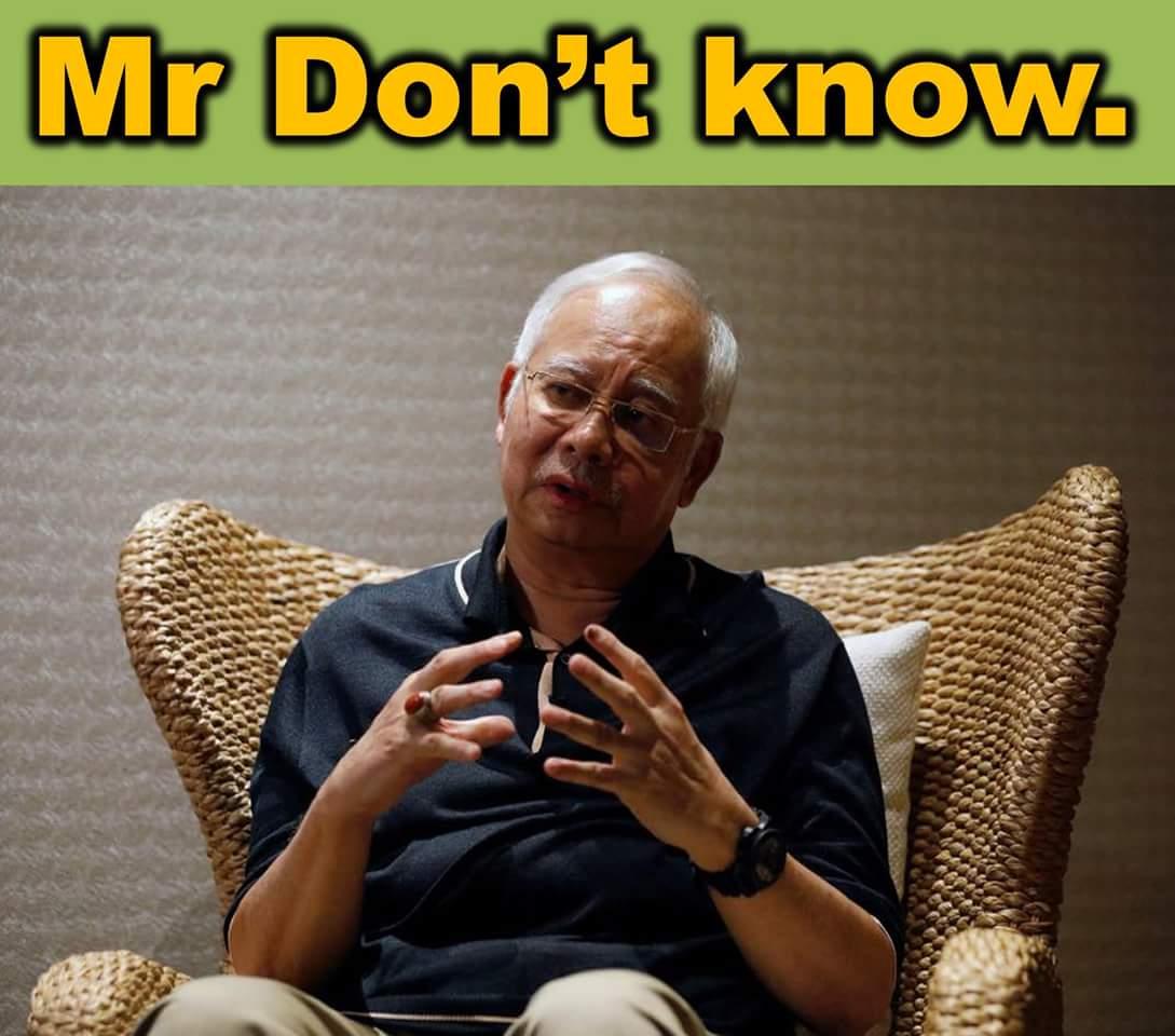 Najib aka MO1.  The latest moniker MR. DON&#39;T KNOW. <br>http://pic.twitter.com/rMCWOPzZbv