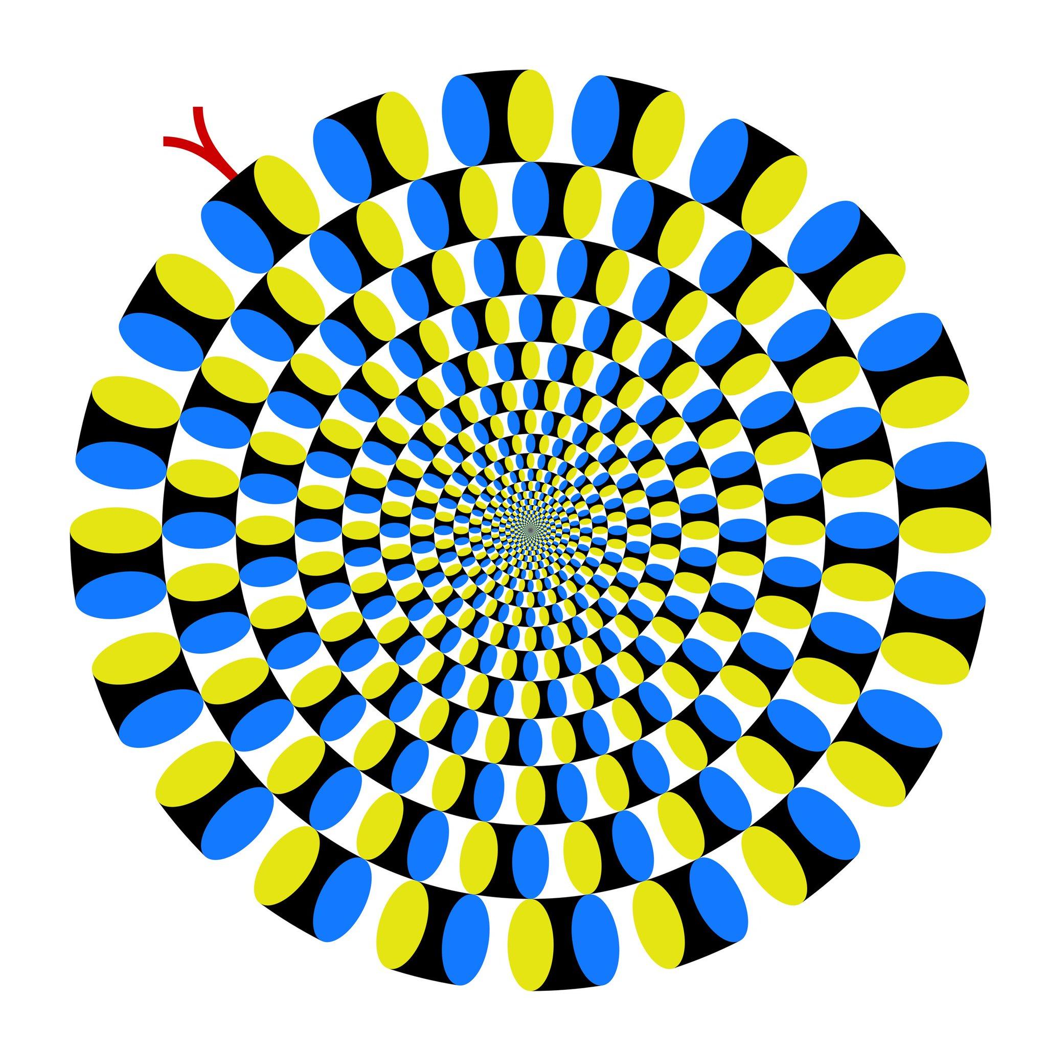 образом, картинка иллюзия змеи признаётся сама звезда