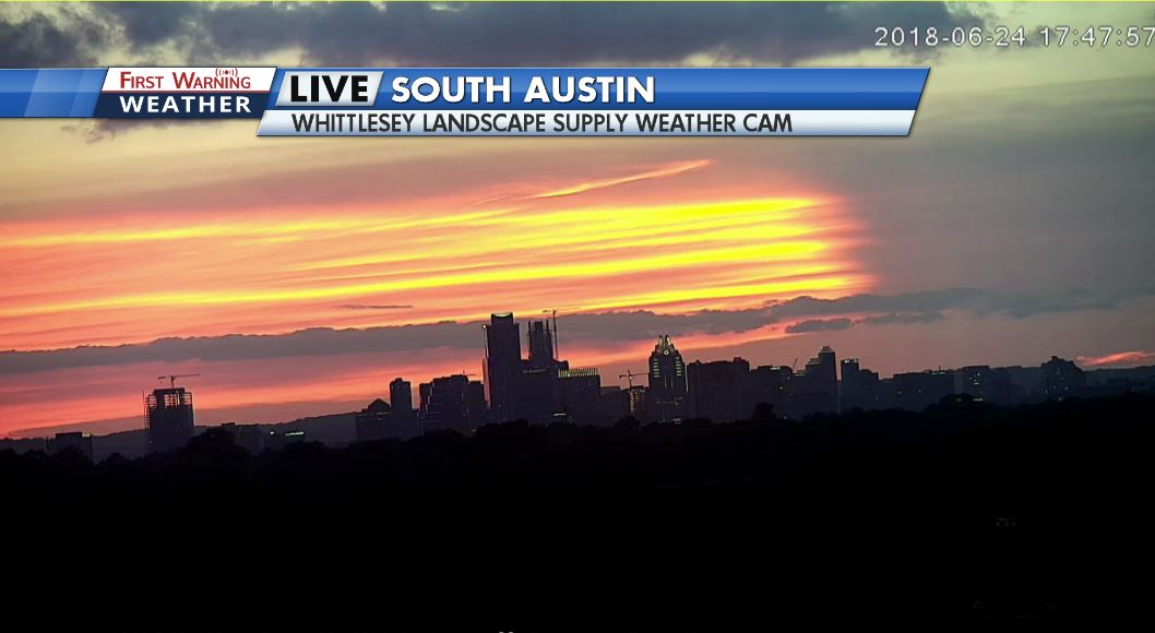 Kxan Weather On Twitter Look At This Such A Lovely Sunset Over Our Whittlesey Cam In South Austin This Camera Is Still Shaking Slightly Too It Ll Be Breezy All Night Rain