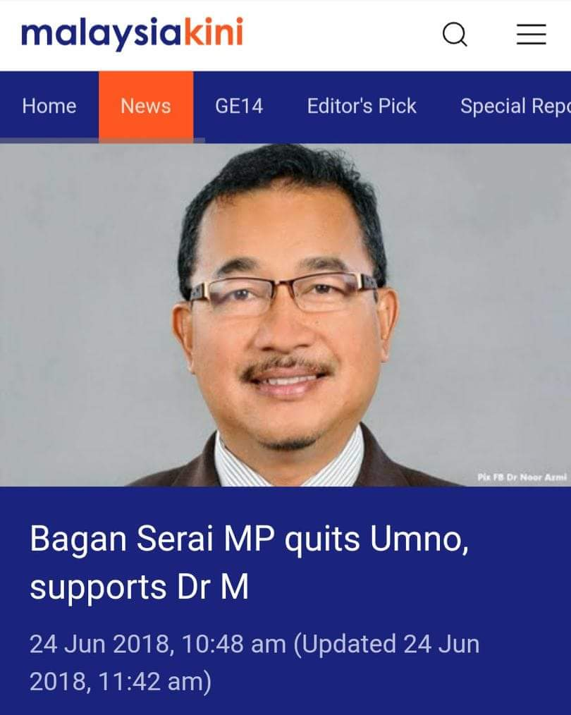 &#39; THIS guy is bad news. I remember watching him in Parliament and saw how he defended Najib Razak , mocked the Opposition and thought to myself what is this thug doing in Parliament. Oh please PH, you don&#39;t need this guy, totally dishonourable.&#39; <br>http://pic.twitter.com/WrhCbNfeUJ