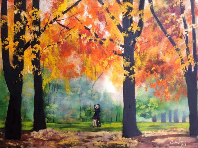 #Autumn Colours #painting #art Https://www.artfinder.com/product/autumn Romantic Couple 84b5/#/  U2026 #art #paintingspic.twitter.com/wJkDkDgyIs
