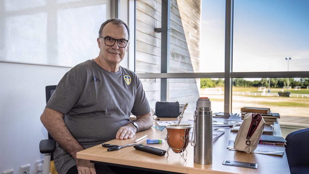 Leeds United's photo on Marcelo Bielsa
