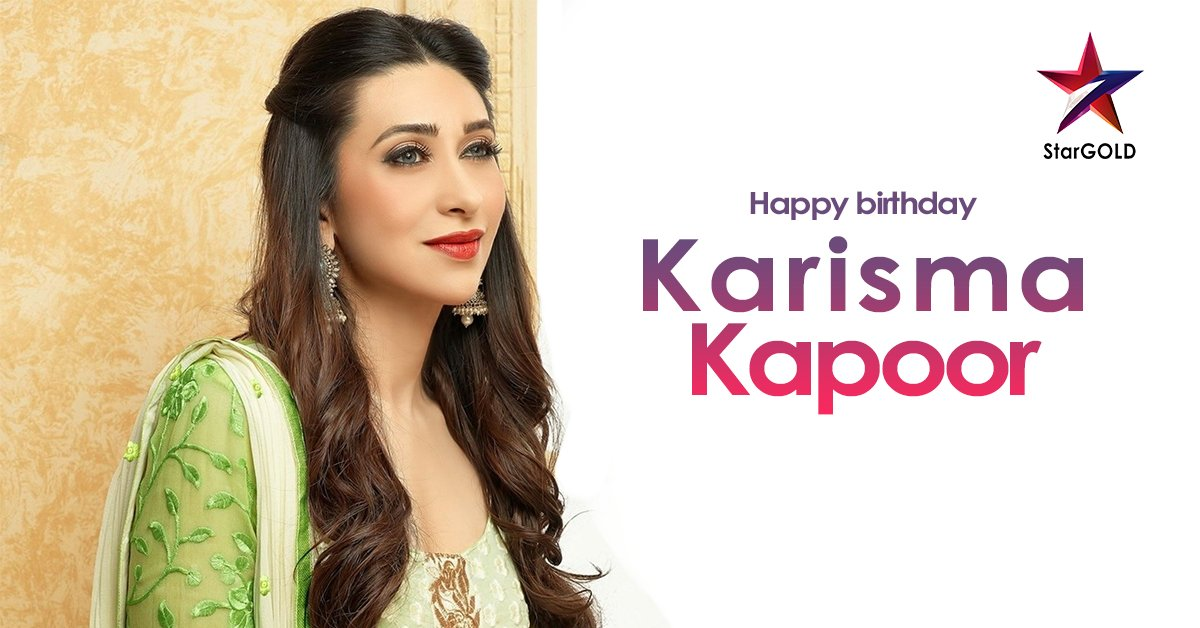 Uski movies mein sachmuch hai karisma! Wishing the ravishing Karisma Kapoor a very Happy Birthday! #HappyBirthdayKarismaKapoor #KarismaKapoor