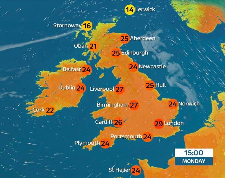 England's footballers storming the World Cup... England's cricketers stuffing the Aussies 5-0.... Lewis Hamilton storming the Grand Prix.... And we're having a heatwave. HAPPY MONDAY!!! 🔥🔥