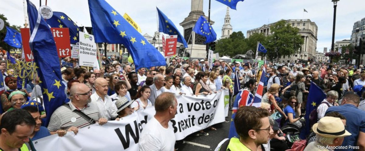 Pro-Brexit politicians and business figures are urging British PM Theresa May to be ready to walk away from the European Union without a trade agreement. https://t.co/o6zkK6AuJg