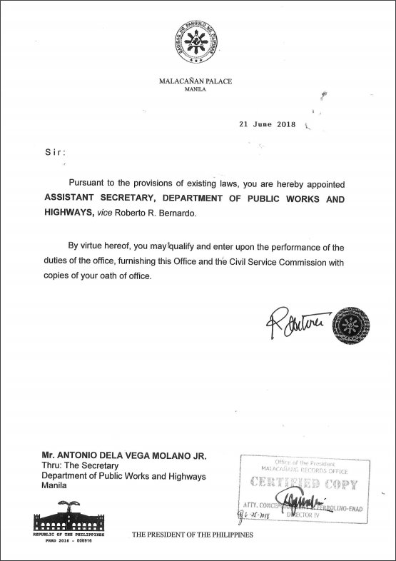 READ: (1/3) New set of presidential appointees