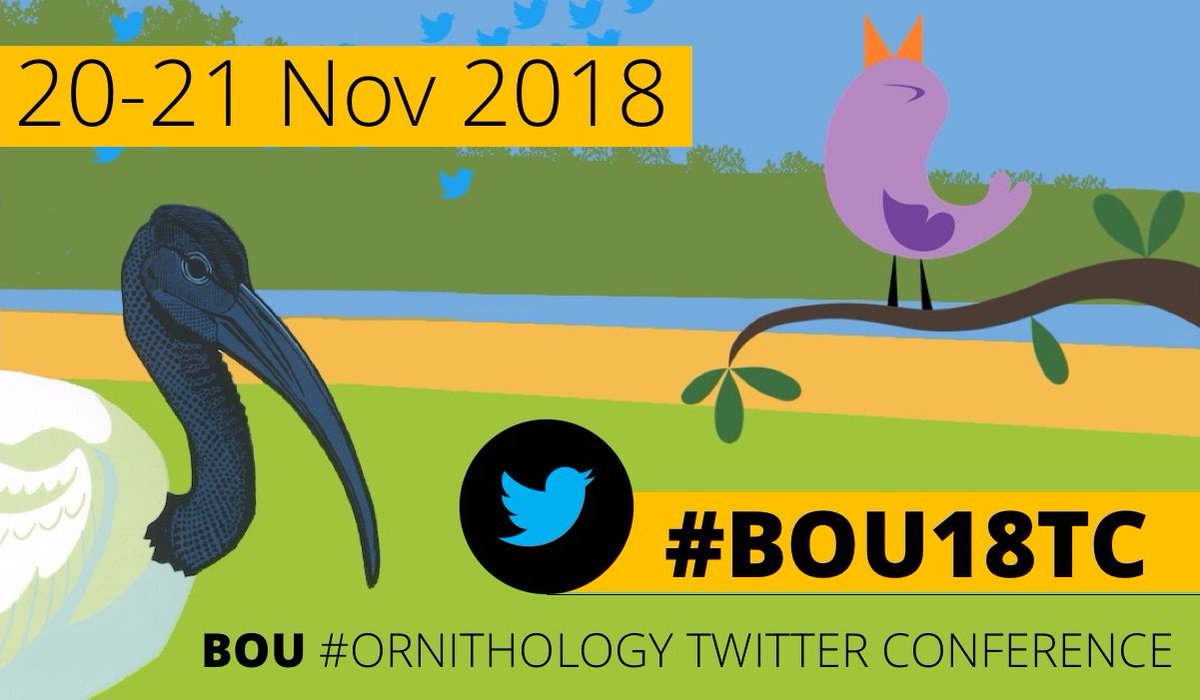Whatever your #ornithology interest, we want to hear about it! #BOU18TC submissions close 30 June ow.ly/wNZp30kChkk Our keynote line-up topics cover bird origins, cognitive behaviour, urban ecology, avian diseases, the role of museums, thermal imaging and #scicomm!