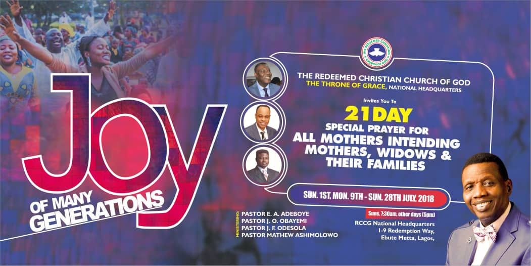 Welcome to your week of uncommon favour, Remember! this weekend is our July thanksgiving and a special prayer for all mothers, intending mothers, widows and their families with @PastorEAAdeboye   #JoyOfManyGeneration<br>http://pic.twitter.com/Un4qSYet26