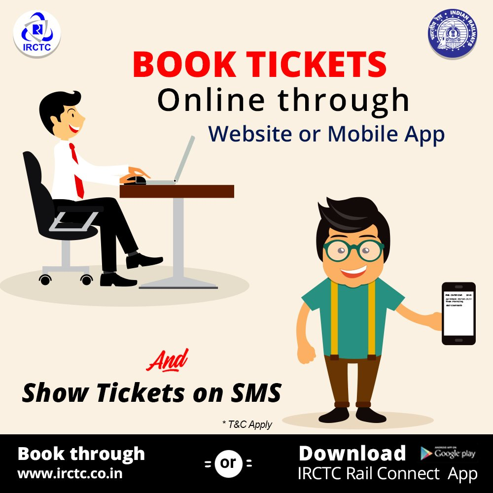 Irctc mobile book train tickets using mobile get irctc mobile app.