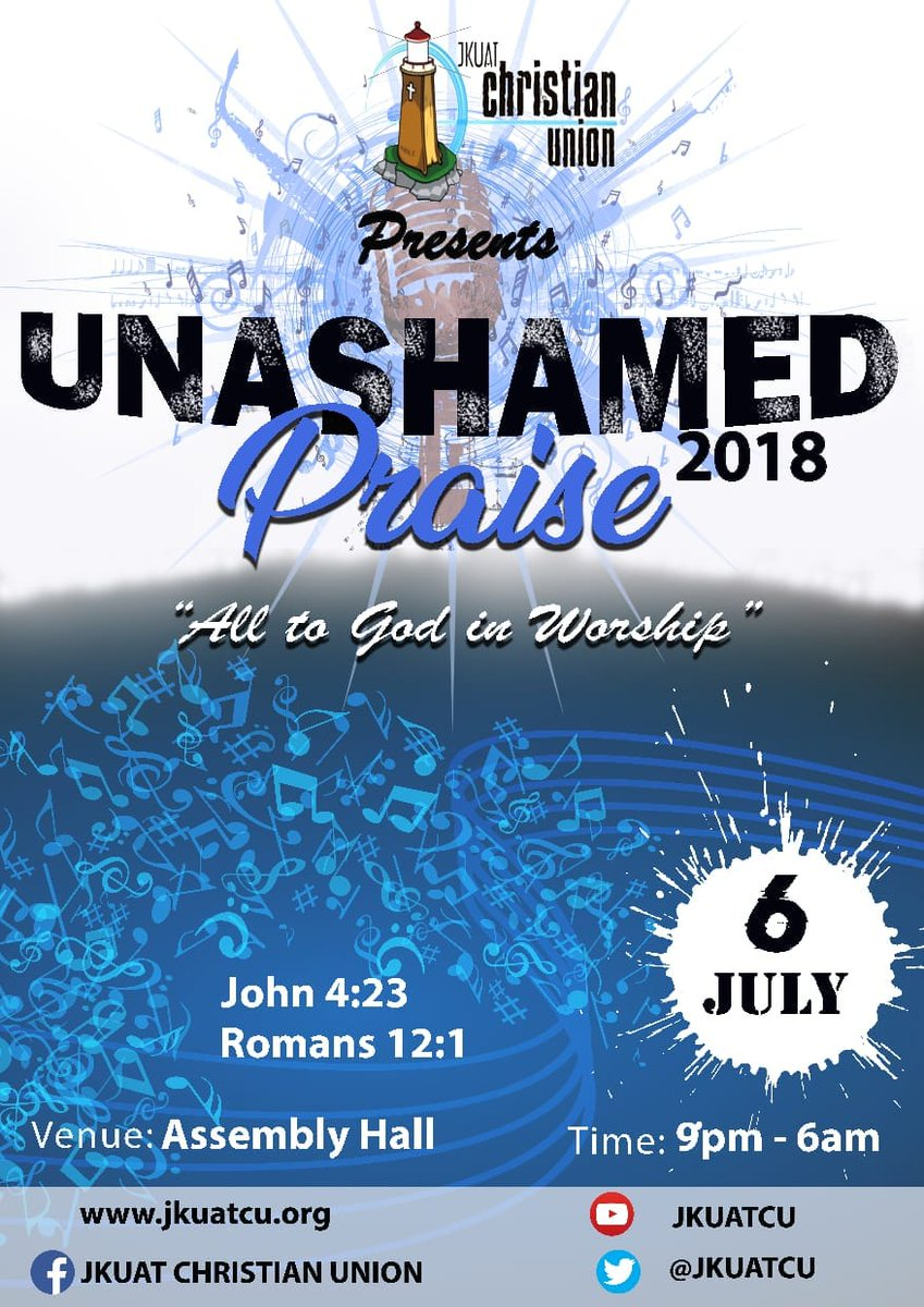 test Twitter Media - It's always been waited for, but wait no more ... 6th July is the date, 9pm-6am is the time...   Where friends? @JKUAT ASSEMBLY HALL.  Come one come all.   #UP2018  #FormniUP  #UnashamedPraise2018 https://t.co/j8DJdp0TWY