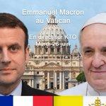 #MacronVatican Twitter Photo