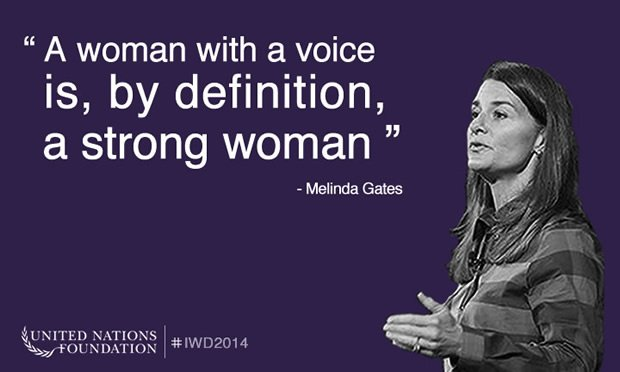 Melinda Gates.-  (Bill Gates wife, Businessperson and Philanthropist) Women Leaders #quote  http:// goo.gl/Cqp6fE  &nbsp;  <br>http://pic.twitter.com/JCWKeXDUd9