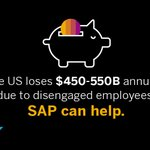 Disengaged employees cost the US between $450-550B annually. You can avoid it with #engagedemployees, learn how: #SAPAppCenter https://t.co/PVoK8Anulo