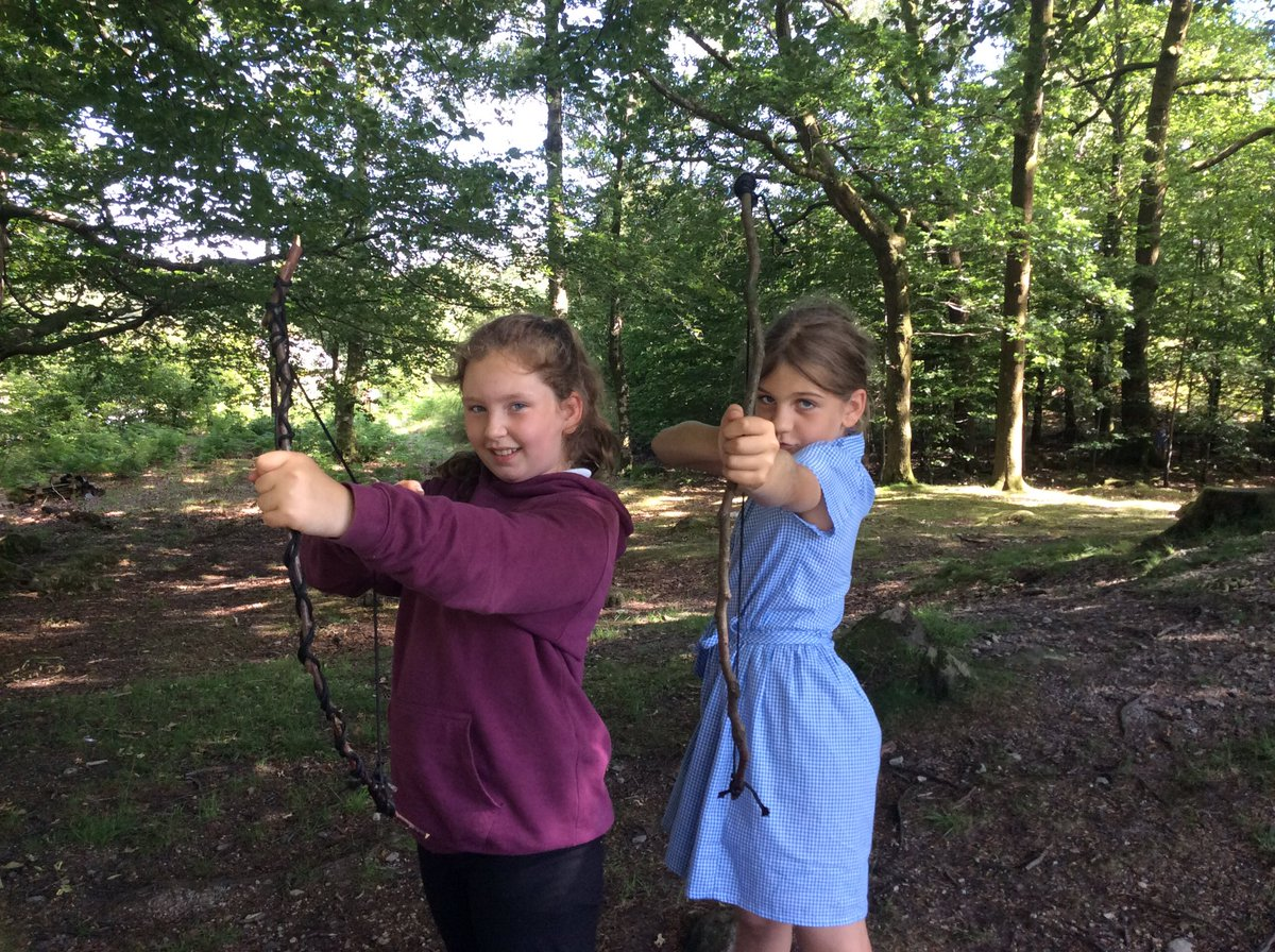 How to make a bow and arrow forest school