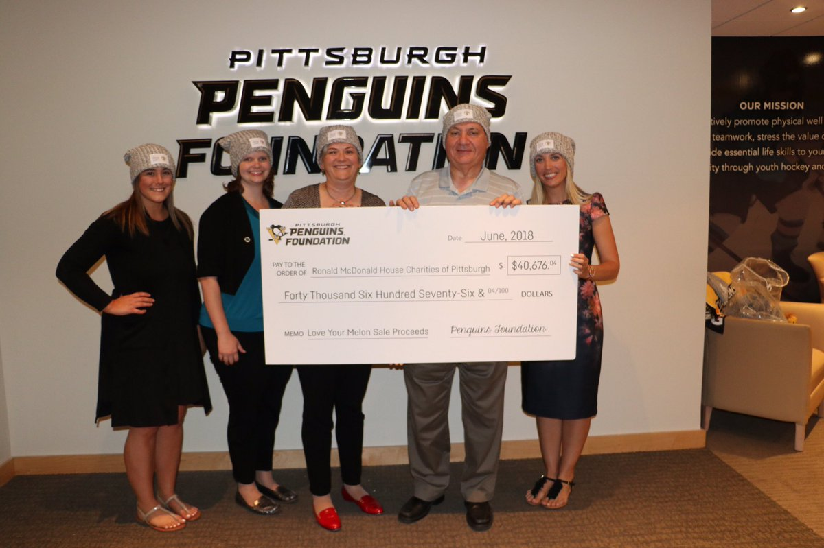 527dc29e2b4ce Thank you to the fans who purchased a Penguins Foundation  LoveYourMelon  beanie in support of  RMHPittsburgh and  RMHMorgantown! Because of you over   40