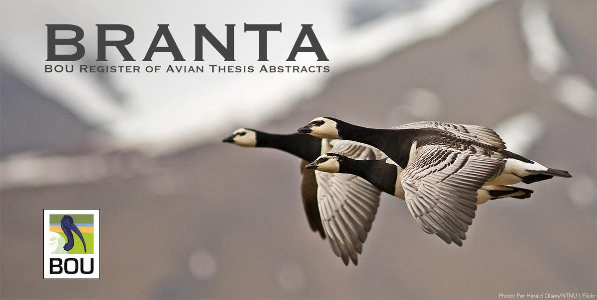 New PhD thesis abstract added to #BRANTA Carlos Camacho Olmedo   Fine-scale population differentiation: ecological and evolutionary mechanisms involved ow.ly/c2tY30kspt6   #ornithology