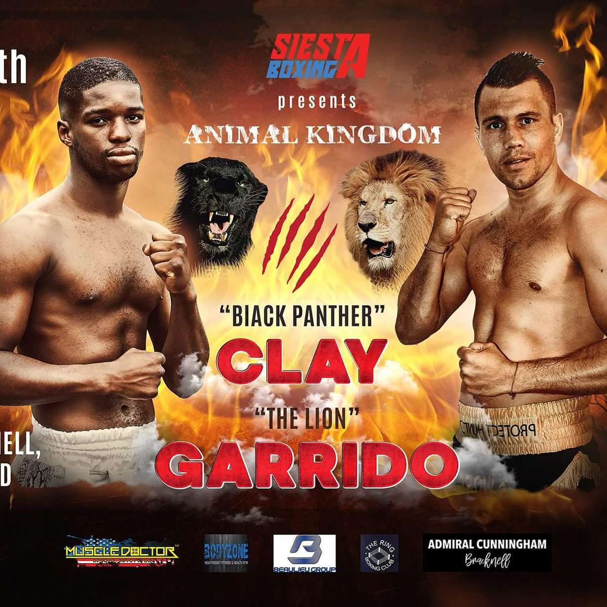 Less than 2 weeks until THE BATTLE OF BRACKNELL - The main event is a battle for the ANIMAL KINGDOM - The Black Panther @LutherClay95 vs Le Lion @renaldgarrido - Bracknell Leisure Centre JULY 8TH - Presented by @SiestaBoxing and @al_siesta<br>http://pic.twitter.com/3v2acBPOpx