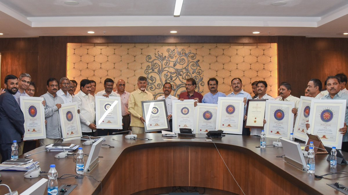 Proud to inform that Andhra Pradesh has been declared State of the Year in Irrigation and has been awarded the Skoch Platinum award for it. The AP Water Resources Department bagged overall 19 awards at the Skoch 52nd Summit.