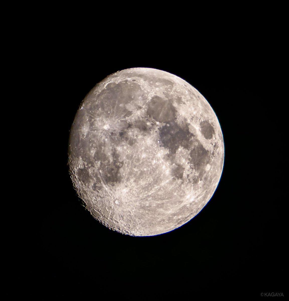 空をご覧ください。 南に十二夜月が輝いています。 月の右手の明るい星は木星です。 (写真は先ほど望遠鏡を使って撮ったものです) 今日もお疲れさまでした。明日もおだやかな一日になりますように。