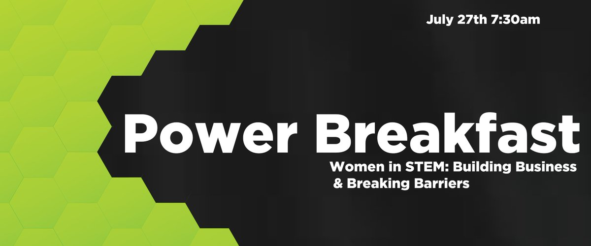 Join us for our upcoming Power Breakfast: Women in STEM - Building Business and Breaking Barriers, on Friday, July 27 at The Holiday Inn!  Hear from female entrepreneurs in STEM about the importance of promoting women in the following fields. Register now:  https://www. eventbrite.com/e/power-breakf ast-women-in-stem-building-business-and-breaking-barriers-tickets-46845151108 &nbsp; … <br>http://pic.twitter.com/6gJE6okwF4