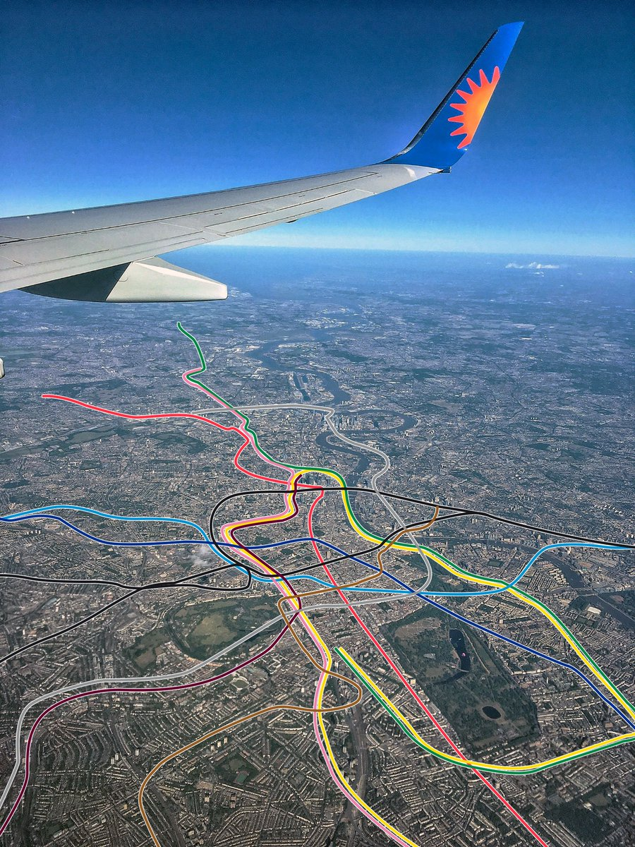 Someone drew the Tube map on an aerial photo of London and it's totally mesmerising