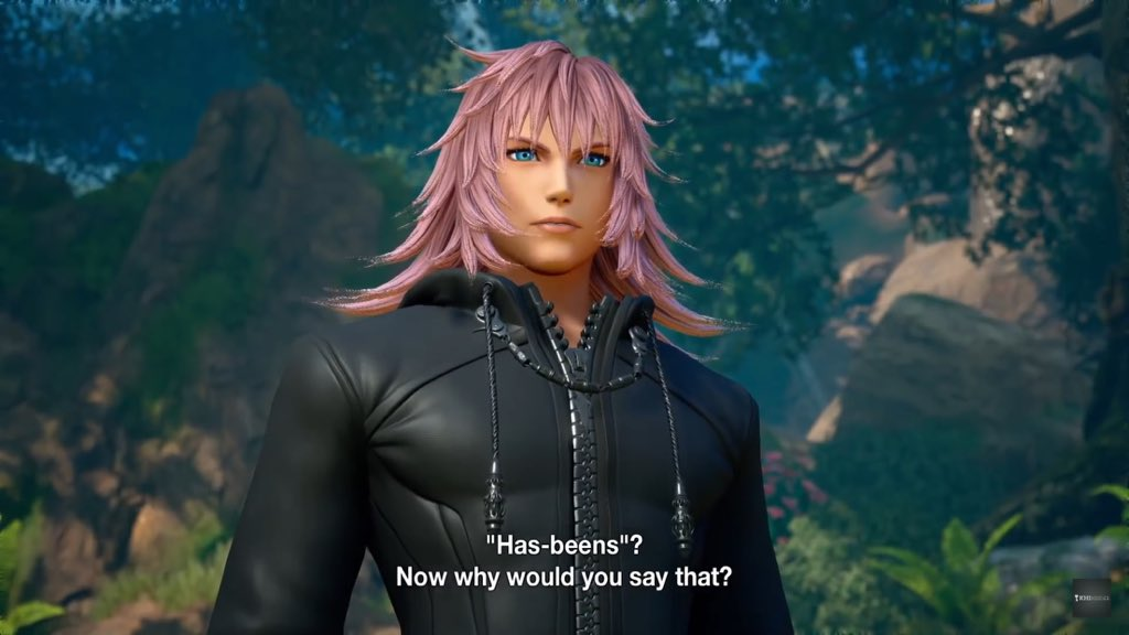 Left: Marluxia, D23 Japan trailer, February 2018  Right: Marluxia, Kingdom Hearts 3 display, June 2018 (source: Dengeki) <br>http://pic.twitter.com/ppbgtWp5Pm