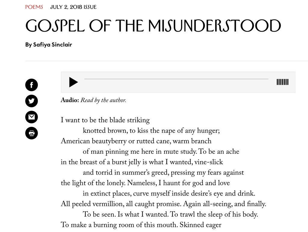 misunderstood poems