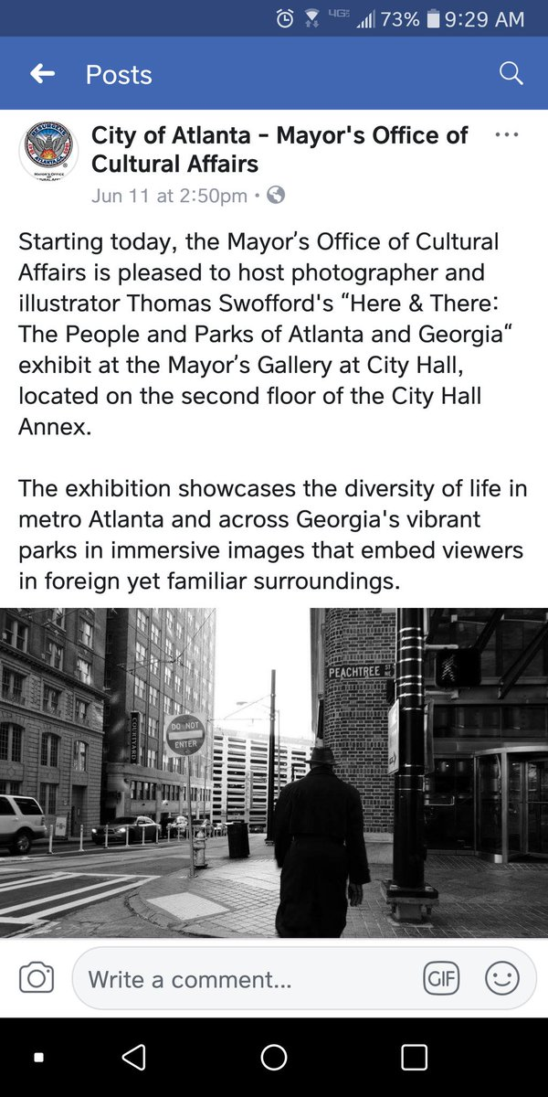I want to thank @Cityofatlanta and @KeishaBottoms for hosting my work.  It is an honor to be recognized, and to be able to spread the beauty and splendor of the city, and state, that I love so much. #Thankyou #weloveatl #MidtownATL <br>http://pic.twitter.com/8V9ewTusHo