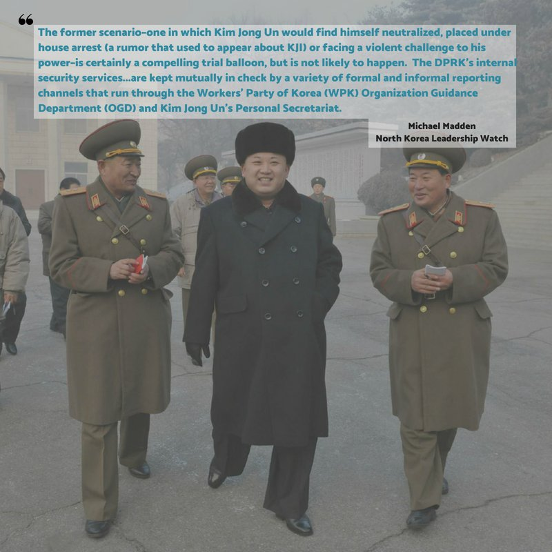 When Kim Jong Un went to Singapore, there were rumors he was flying back early because of coup fears at home. @Michael_NKLW sets the record straight about North Korea&#39;s hierarchy in this deep dive from our affiliate site North Korea Leadership Watch   https://www. 38north.org/articles/affil iates/north-korea-leadership-watch/15641/ &nbsp; … <br>http://pic.twitter.com/hsQIKAxk36