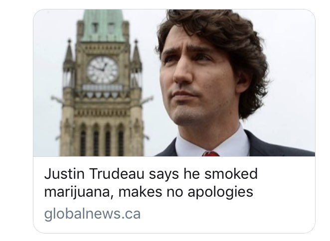 """MISSING: Pot-smoking, joint-passing (""""trafficking"""") justice-minded Justin Trudeau has disappeared. Please alert Canadian prohibition victims if located.  ———— These quotes are from 2013. This @JustinTrudeau hasn't been seen since... 5 years of injustice...  https:// twitter.com/jodieemery/sta tus/1010980008494391296?s=21 &nbsp; … <br>http://pic.twitter.com/dlumQ4Cf4f"""