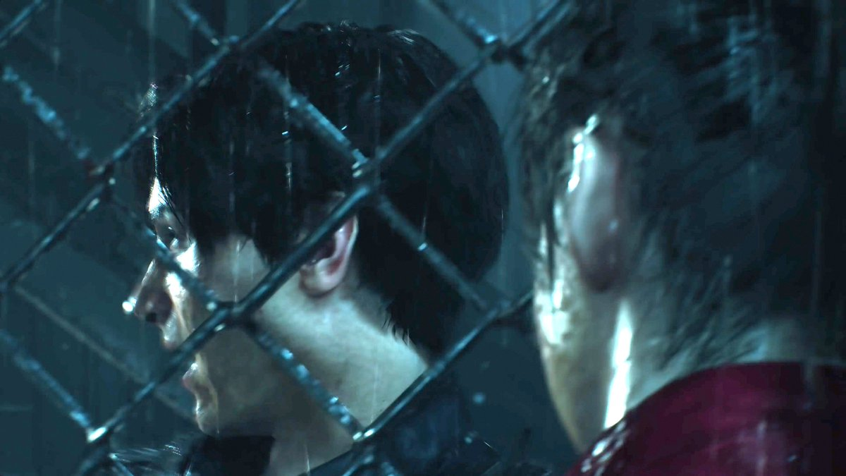 Here is (I think) the only other shot so far of Claire and Leon together in #ResidentEvil2Remake talking to each other through a chain link fence, probably same scene as the previous helicopter crash image. <br>http://pic.twitter.com/pr0xEKhsrB