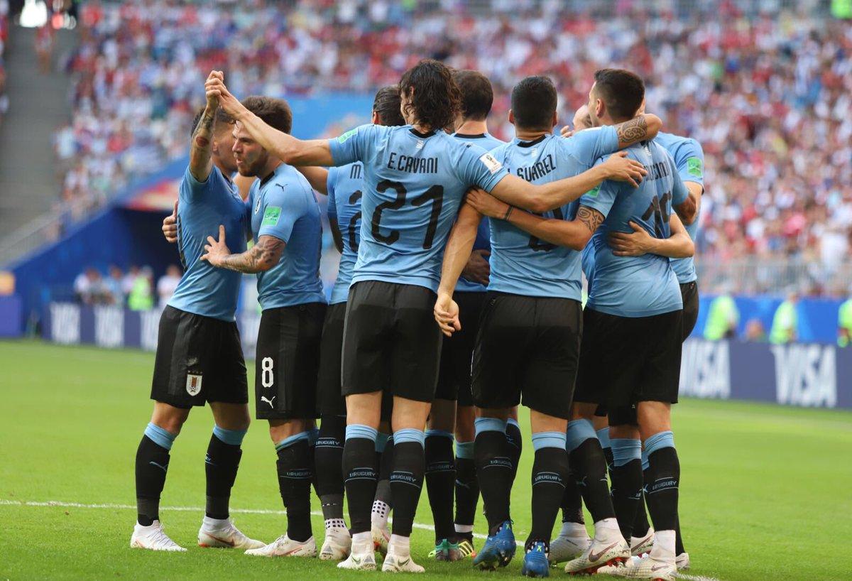 Uruguay nomaaaaa! Primer objetivo cumplido! Vamos por más!! 💪🏼💪🏼💪🏼🇺🇾🇺🇾🇺🇾1⃣5⃣ #worldcup #VamosUruguay https://t.co/SsR9ZF2pL3
