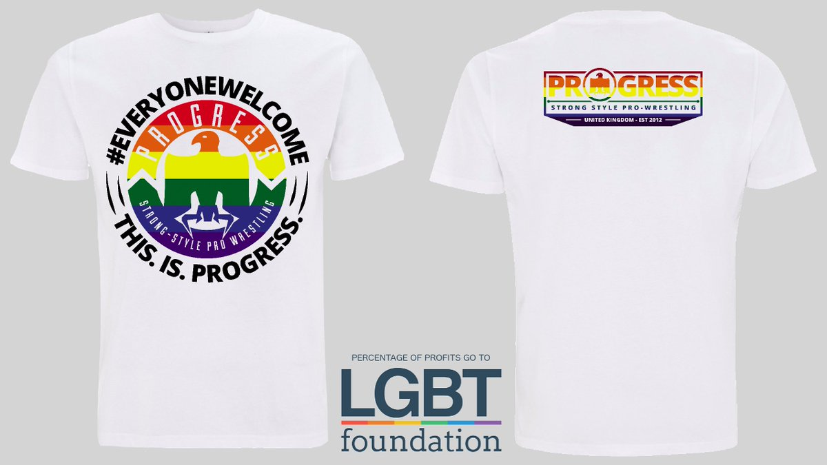 542dc5205 Percentage of profits goes to  LGBTfdn. https   progresswrestling.com  collections frontpage products everyone-welcome-shirt-1-0  …pic.twitter.com altui9A3mX