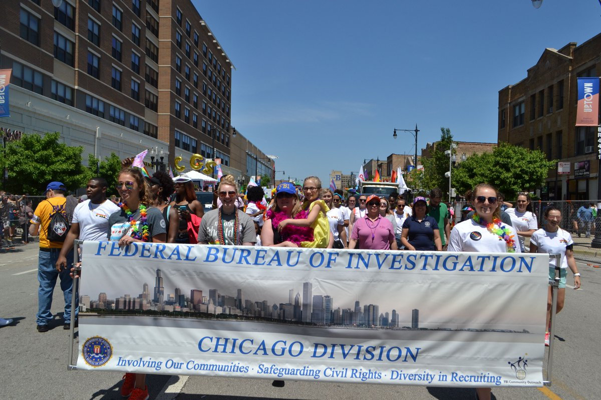 #ICYMI @FBIChicago is proud to support the 2018 Chicago Pride Parade!