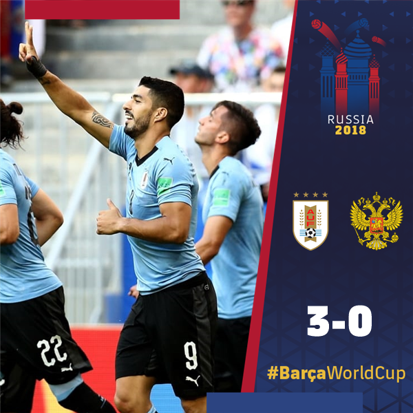 �� ¡FINAL #URURUS!  1⃣ ¡@Uruguay y @LuisSuarez9, primeros de grupo! ¡¡Felicidades, Luis!! ����  ���� #BarçaWorldCup https://t.co/uDPhK1VBvk