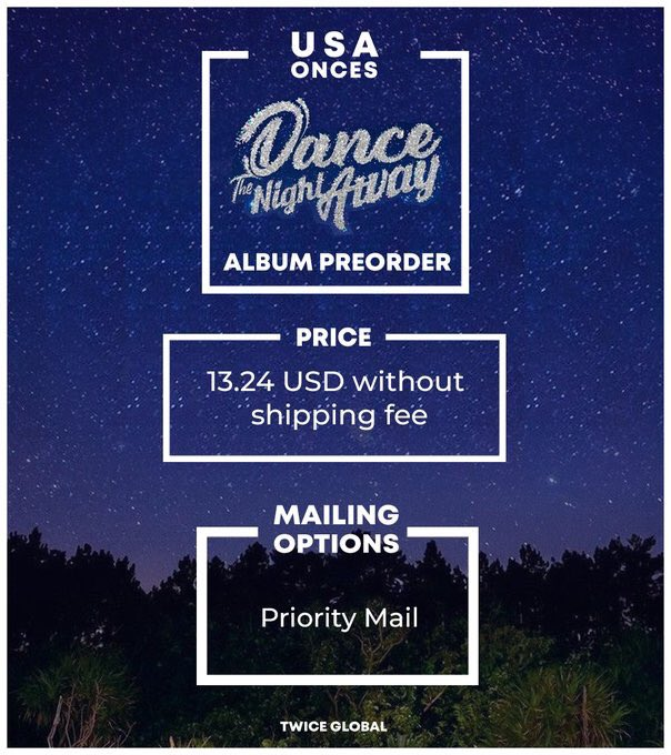 [PO] ONCEs in USA! You may pre-order your #TWICE #SummerNights album from us! Place your order at:  https:// goo.gl/xLPAFx  &nbsp;  .  All the albums purchased will be counted in Hanteo Chart! If you can, buy an album and support our girls!<br>http://pic.twitter.com/x6IkZ2IxEQ