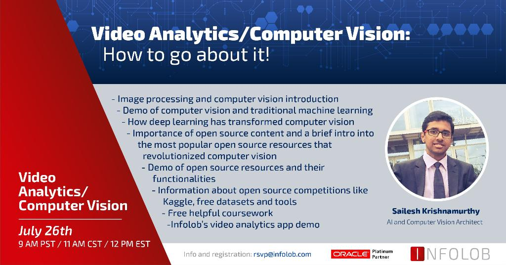 Sailesh Will Be Presenting This Webinar On July 26th At 9 Am Pst 11 Am Cst 12 Pm Est Be Sure To Register Https Hubs Ly H0cmm230 Computervision Ai