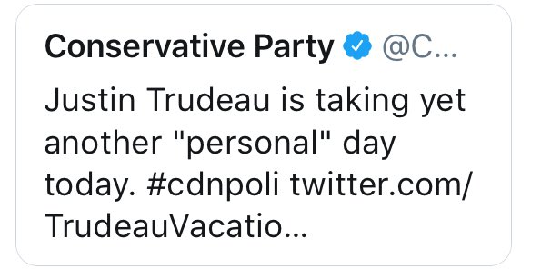 You know, I've been thinking about this. And I think that @AndrewScheer attacking @JustinTrudeau over taking a day off today - the St. Jean Baptiste stat - is one of the stupidest fucking things I've seen in a while. (And: no wonder they deleted it.) #cdnpoli <br>http://pic.twitter.com/iiFFGByVMa