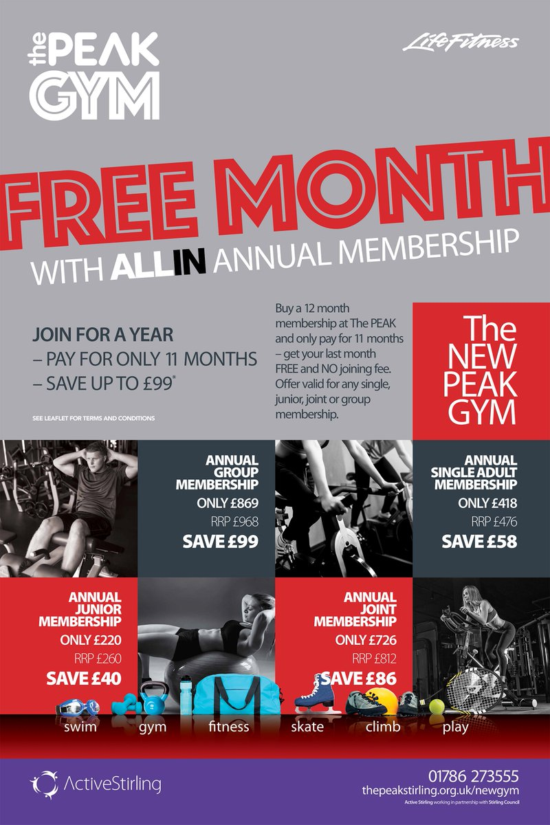 To Join Or For More Information On Our Memberships Please Visit Thepeakstirlingorguk Allin Terms Conditions Applypictwitter Keftufp2nc