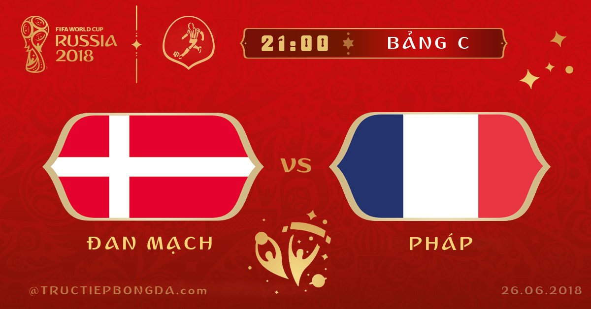 Đan Mạch vs Pháp